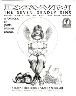 Dawn The Seven Deadly Sins Portfolio 8 Full Color Plates One Signed and Numbered by Joseph Michael Linsner