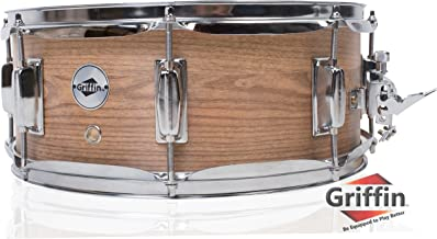 Oak Wood Snare Drum by Griffin | PVC on Poplar Wood Shell 14