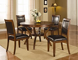 Coaster Home Furnishings Nelms 5-Piece Storage Table Dining Set Deep Brown and Black