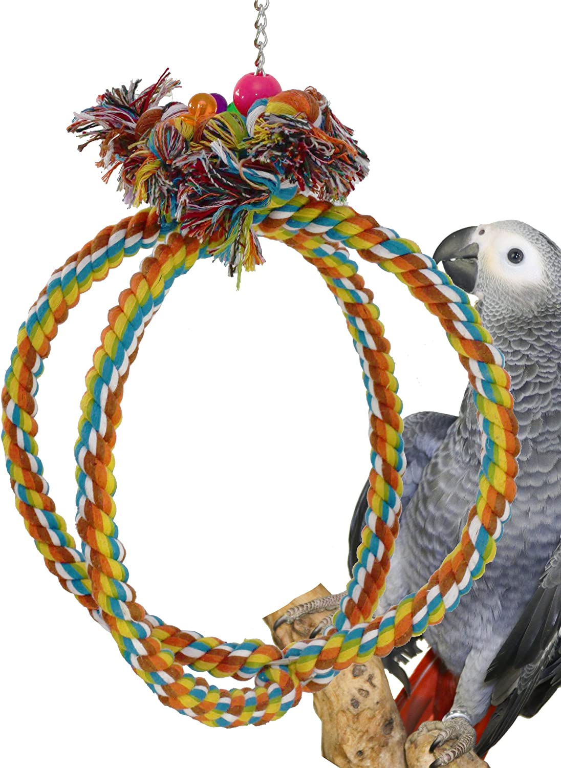 Bonka Bird Toys 1036 Globe Rope Ring Swing Bird Toy parred cage toys cages african grey amazon