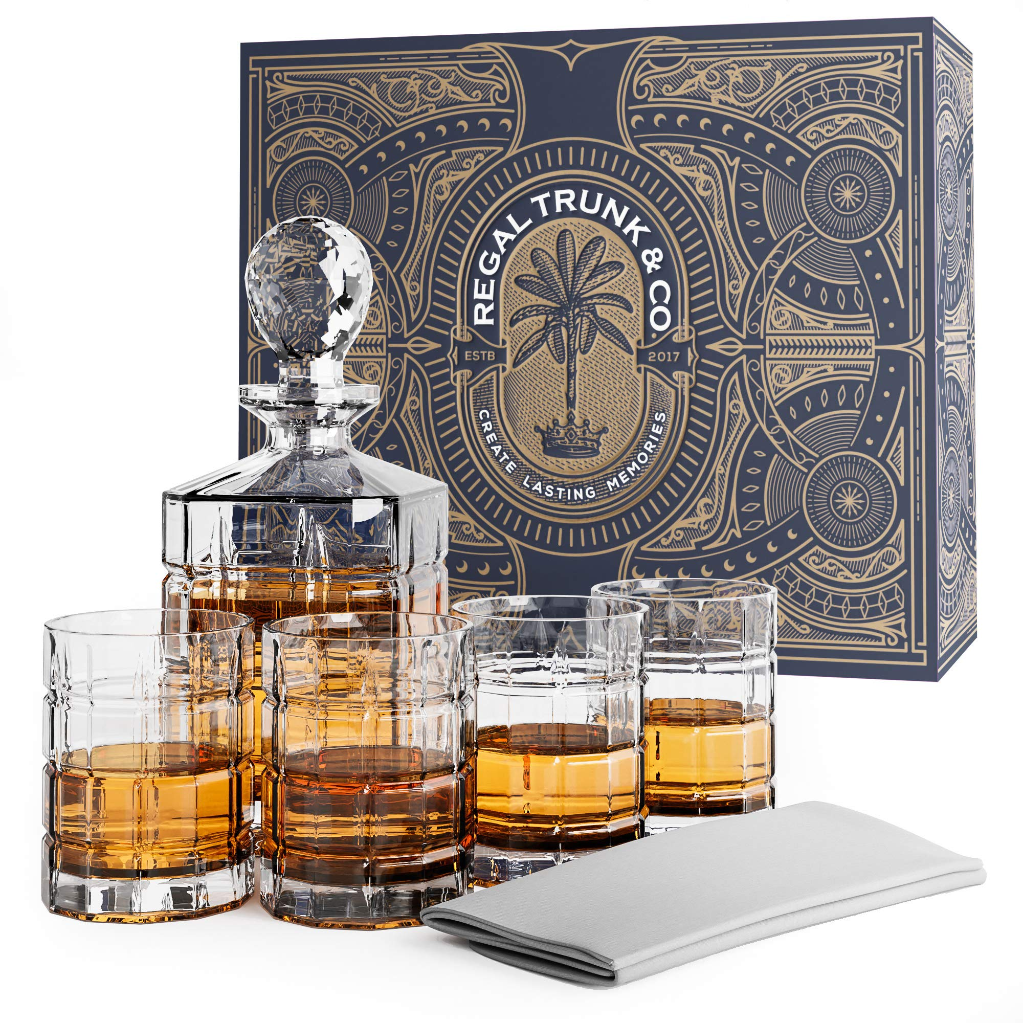Elegant Piece Whiskey Decanter Set