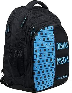 "POLE STAR ""BIG-4"" Polyester 40L Black and Sky Blue Backpack"