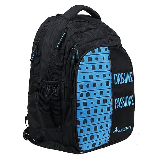 POLESTAR Big 4 Compartment 40 Lt Black Blue Laptop/Casual/Travel Backpack School Bag