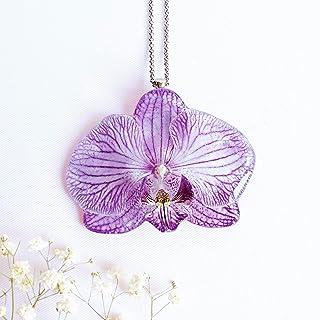 Collar con Colgante de Flor de Orquídea Natural, Regalo Especial para Mujer