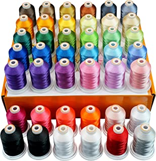 New brothread 42 Spools 1000M (1100Y) Polyester Embroidery Machine Thread Kit for Professional Embroiderer and Beginner