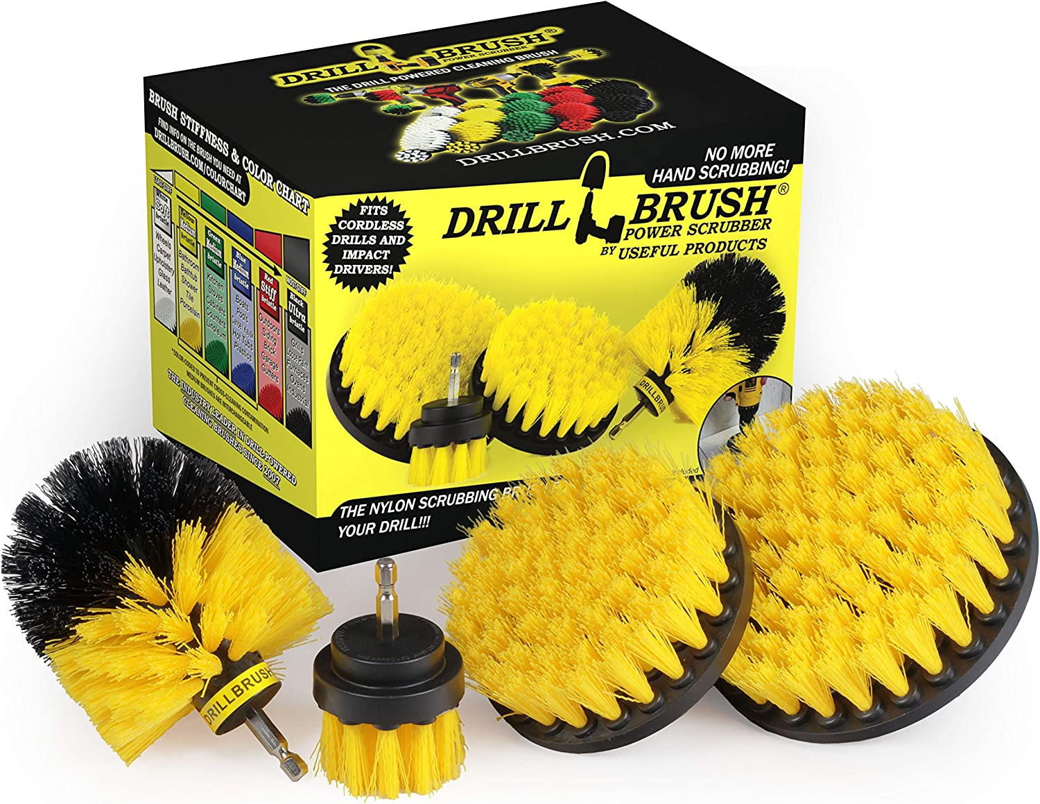 Drillbrush Max 66% OFF 4 Piece Nylon Power Brush Tile and Grout Bathroom Phoenix Mall Cle