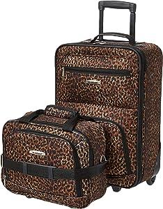 Rockland Fashion Softside Upright Luggage Set, Leopard, 2-Piece (14/19)