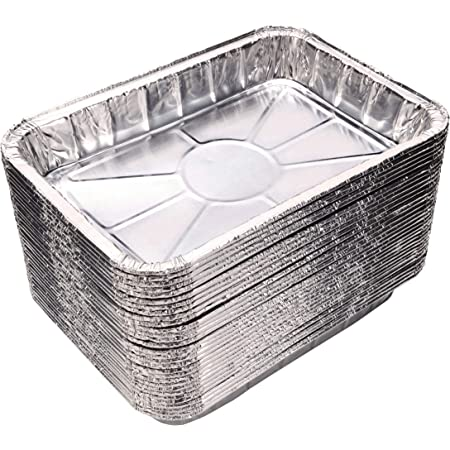 """Weber Grills Compatible Drip Pans [30-Pack], Bulk Package, Aluminum Foil BBQ Grease Pans for Easy Drain Management of Weber Grills - 7 1/2"""" x 5"""""""