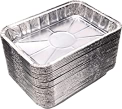 """[30 Pack] Compatible with Weber Grills Drip Pans, Bulk Package, Aluminum Foil BBQ Grease Pans, 7.5"""" x 5"""""""