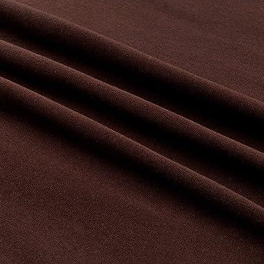 Kaufman Laguna Stretch Jersey Knit Chocolate, Fabric by the Yard