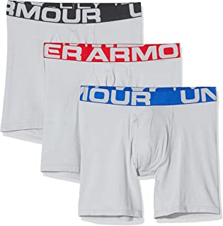 Under Armour 3 Pack Charged Cotton Sports Underwear (15cm), Men's Boxer Briefs Offering Complete Comfort, Fast-Drying Men'...