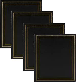 DesignOvation Traditional Photo Albums, Holds 440 4x6 Photos, Set of 4, Black