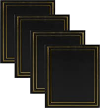 DesignOvation Traditional Photo Albums, Holds 440 4x6 Photos, Set of 4, Black