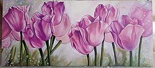 ART/TULIPANI/FIORI/FLOWERS/DIPINTO A MANO 100%/COLORI OLIO SU TELA/CASA/QUADRI/PITTURA MODERNA/DIPINTI