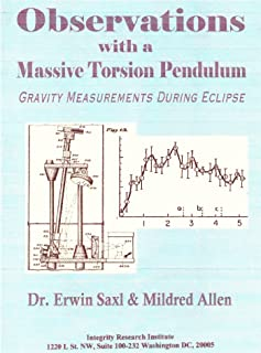 Observations with a Massive Torsion Pendulum. Gravity Measurements during Eclipse
