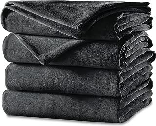 Sunbeam Heated Blanket | Velvet Plush, 10 Heat Settings, Slate, King - BSV9GKS-R825-12A44