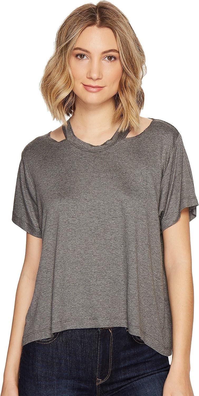 Nicole Miller Womens Riley Jersey Cut Out Shirt