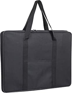 Jjring Carry-All Wired-Frame Nylon Portfolio Case, 23 Inches by 17 Inches, Black