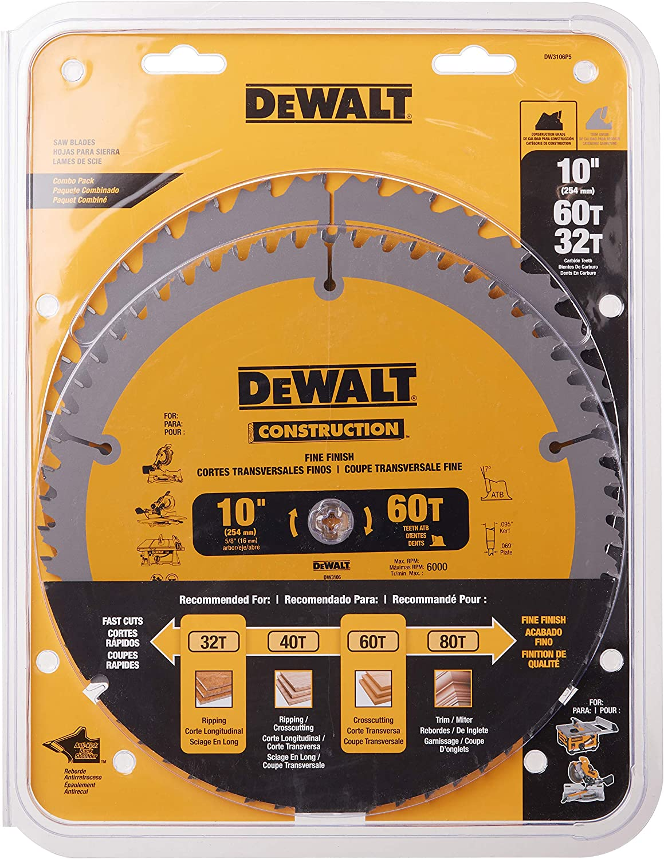 Dewalt DW3106P5 Saw Blade Construction Combo Pack