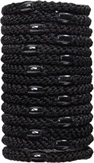 L. Erickson Grab & Go Ponytail Holders, Black, Set of Fifteen - Exceptionally Secure with Gentle Hold
