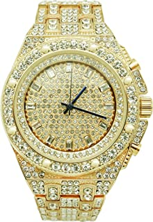 Bling-ed Out Rapper's Luxury Hip Hop Mens Watch - 10227 Gold
