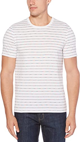 Perry Ellis Homme 4DSK7131 T-Shirt - Blanc - Taille S