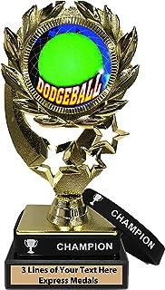 Express Medals ドッジボールトロフィー 取り外し可能 ウェアラブルチャンピオン リストバンド 大理石ベース カスタマイズ可