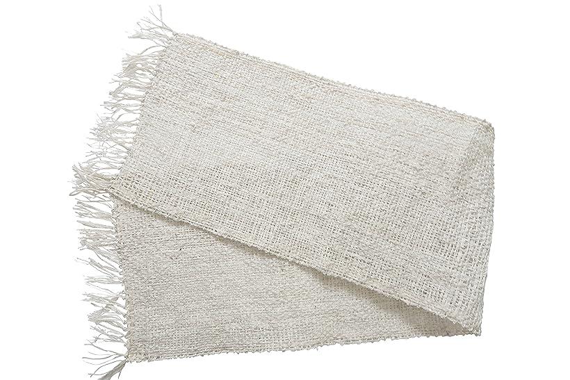 フライカイトリハーサル瞑想的きびそ(生皮苧)ボディタオル 純国産(原糸 群馬県産) 3000デニール