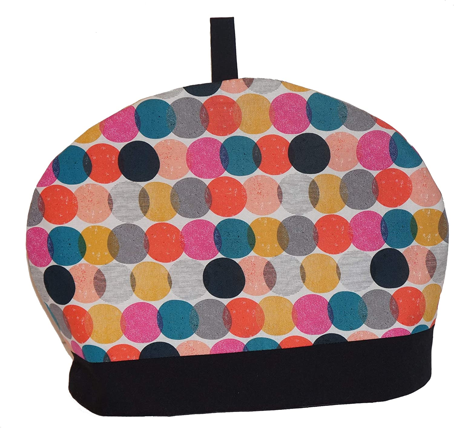 Whimsly Tea Cozy half 6-8 Cup Discs Size OFFicial Multi-Colored Insulated