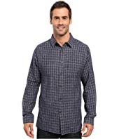 Kenneth Cole Sportswear - Long Sleeve Button Down Collar Heather Ombre
