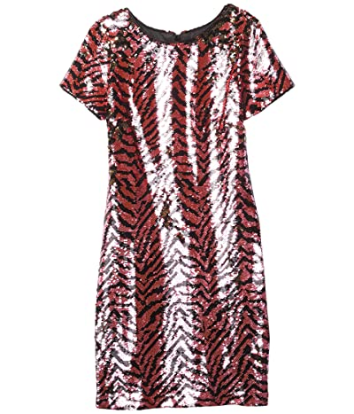 Milly Minis Bea Zebra Sequin Dress (Big Kids) Girl