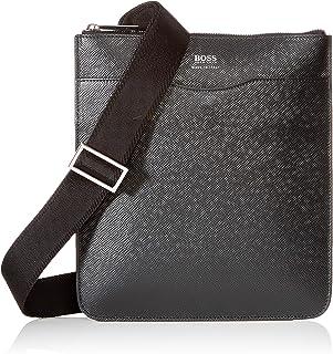 BOSS - Signature_s Zip Env, Shoppers y bolsos de hombro Hombre, Negro (Schwarz), 1x26x24 cm (B x H T)