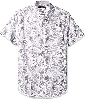Ben Sherman Men's Ss Shadow Leaf PRNT Shirt