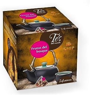 Ship - Té Frutas del Bosque - Infusión con 15 Pirámides - Contiene Propiedades Digestivas - Sabor Dulce - Infusión Digesti...