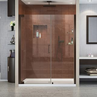 DreamLine Elegance 58-60 in. W x 72 in. H Frameless Pivot Shower Door in Oil Rubbed Bronze, SHDR-4158720-06