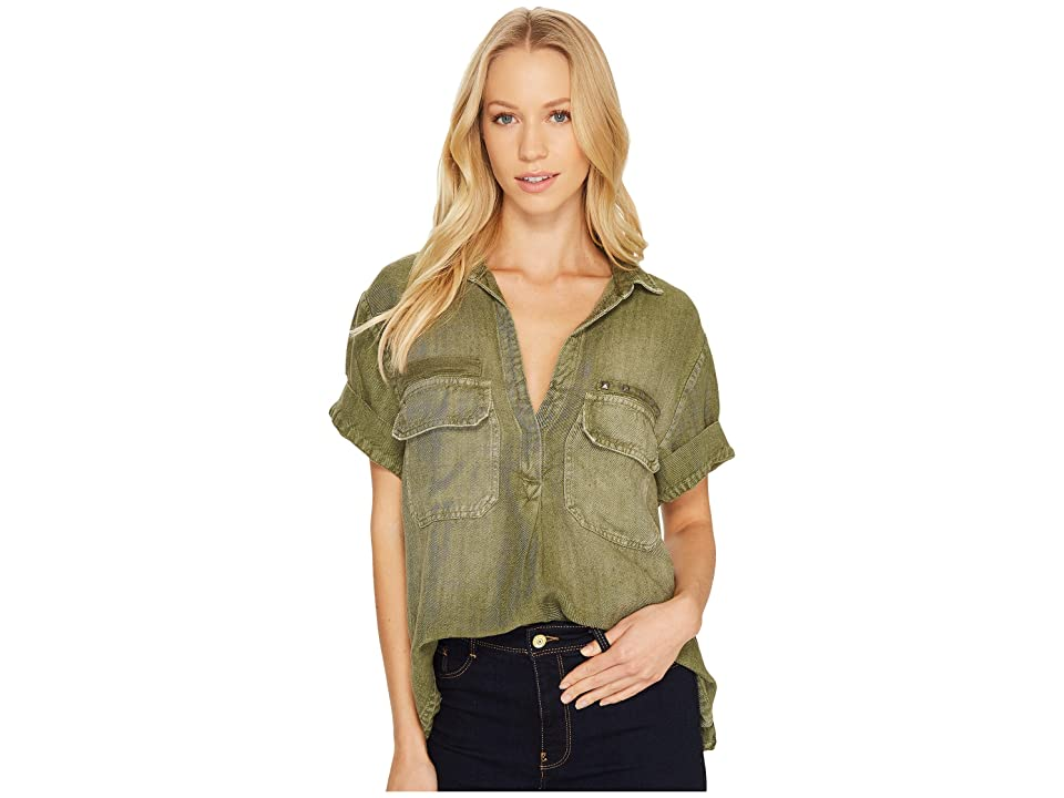 Image of AG Adriano Goldschmied Anson Top (Sulfur Climbing Ivy) Women's Clothing