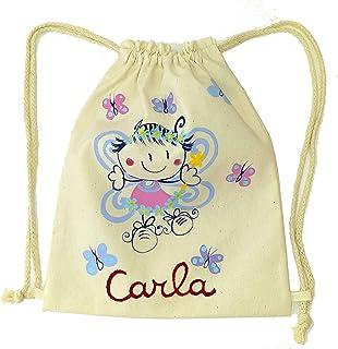 Mochila cuerdas Infantil Personalizada Hada Mariposa