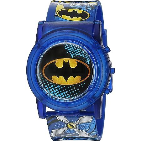DC Comics Boys' Analog-Quartz Watch with Plastic Strap, Blue, 23 (Model: BAT4405SR)