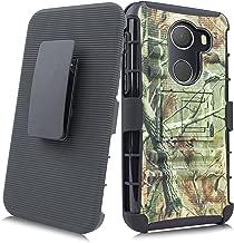 Alcatel A30 Fierce 2017 Case, Customerfirst Heavy Duty Shockproof Full-body Protective Hybrid Case Cover with Swivel Belt Clip and Kickstand for Alcatel A30 Plus/Alcatel Walters/Alcatel REVVL (Camo)