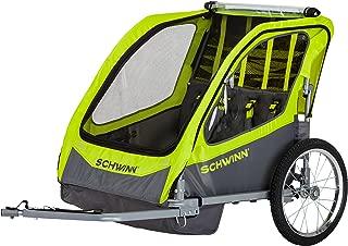 Schwinn Caribou Double Bike Trailer with Quick-Release Wheels, 16