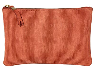 Madewell Medium Pouch Cord (Russet) Clutch Handbags