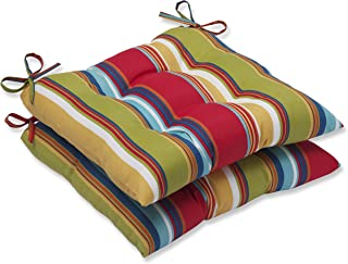 """Pillow Perfect 572703 Outdoor/Indoor Westport Garden Tufted Seat Cushions (Square Back), 19"""" x 18.5"""", Multicolored"""