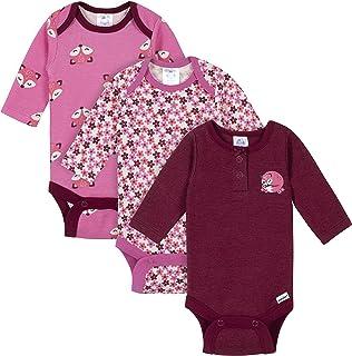 Gerber Baby Girls' 3-Pack Long Sleeve Thermal Onesies Bodysuits Footie, Fox Floral, 0-3 Months