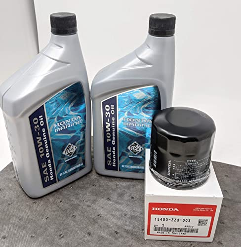new arrival Honda Marine Oil Change Kit w/Oil pad online sale and 2-Quarts sale 10W-30 Oil and Filter outlet online sale