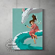 Anime vintage minimalist Poster, Spirited Away minimalist prints, Spirited Away kids room decor, Spirited Away poster, All Prints avialable in 9 SIZES and 3 type of MATERIALS