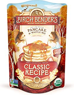 Organic Pancake and Waffle Mix, Classic Recipe by Birch Benders, Whole Grain, Non-GMO, 16oz