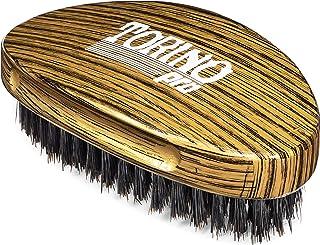 Torino Pro Medium Hard Palm Curve Wave Brush By Brush King - #1780-360 Curved Medium Hard Palm - Great for Wolfing - For 3...