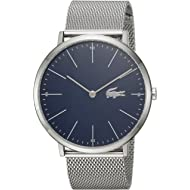 Men's Moon Quartz Watch with Stainless-Steel Strap, Silver, 20 (Model: 2010900)
