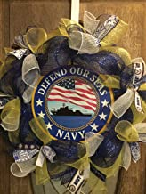 Navy Wreath, US Navy Wreath, Military Wreath