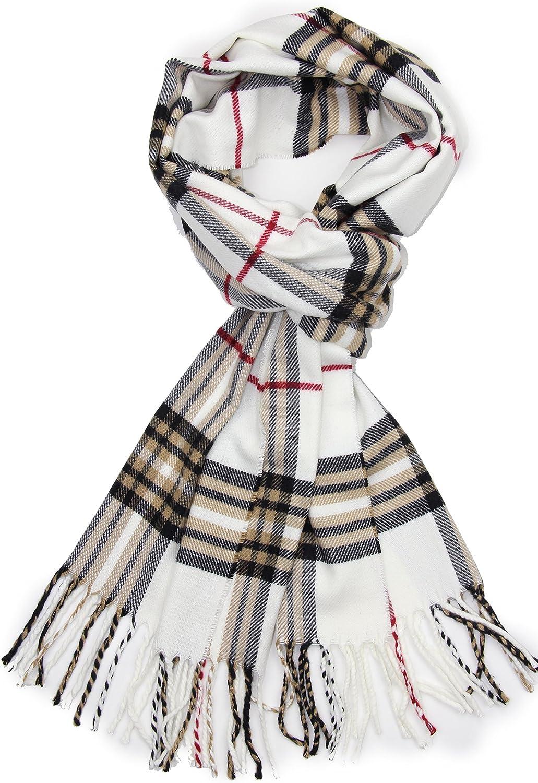Achillea Soft & Warm Tartan Plaid Checked Cashmere Feel Winter Scarf Unisex